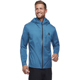 Black Diamond Fineline Chaqueta Stretch Rain Shell Hombre, astral blue